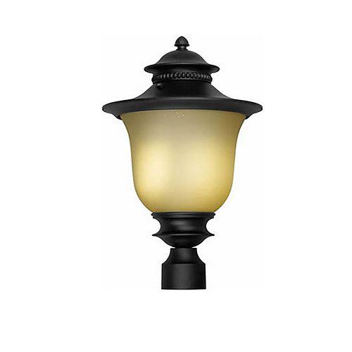 pilier monture lumière avec abat-jour de spécialité couleur en noir
