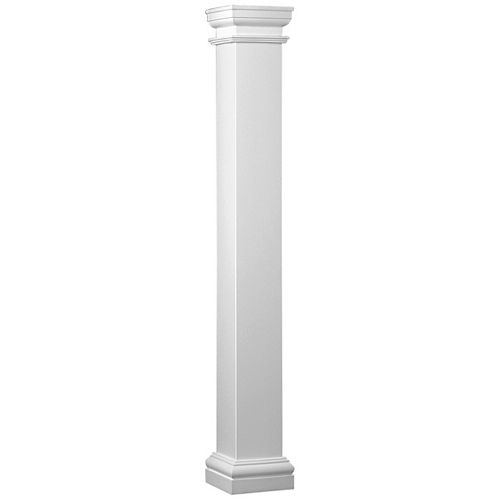 Fiberglass Square Column 8-inch x 8-inch x 8 Feet