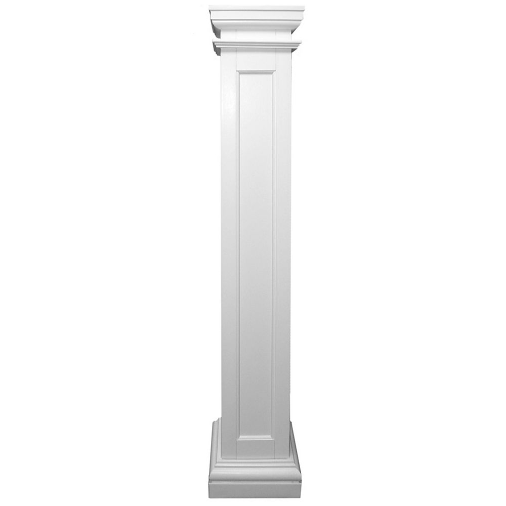 HB&G Permalite Fiberglass Recessed Panel Column 8 Inches x 8 Inches x 96 Inches