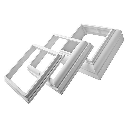 Fiberglass Cap and Base for 8-inch Square Column