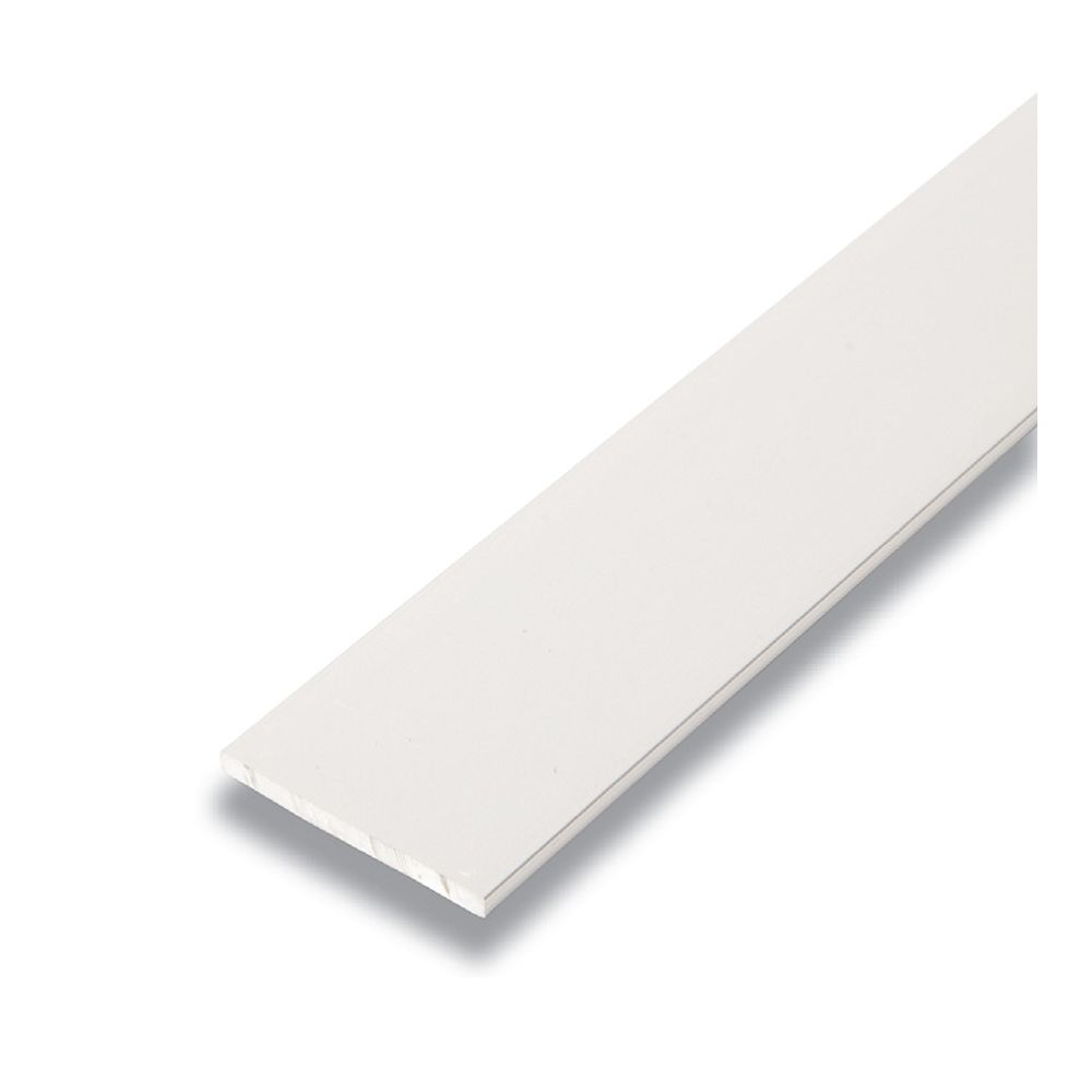 Alexandria Moulding Metal Flat Bar Satin Clear 1/8 In. x 1-1/2 In. x 8 Ft.