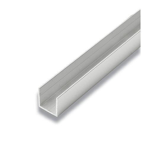 Alexandria Moulding Metal U-Channel Satin Clear 3/4-inch x 3/4-inch x 8 Ft.