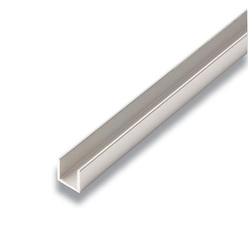Metal Canal Aluminium 1/2 po x 1/2 po x 8 pieds