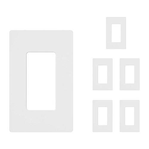 Lutron Claro 1-Gang Wall Plate - White (6-Pack)