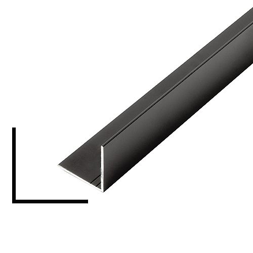 Metal Angle Black 1-inch x 1-inch x 8 Ft.