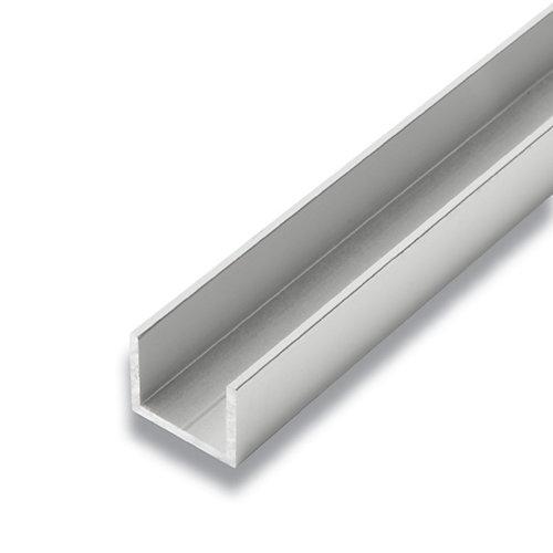 Metal U-Channel Satin Clear 3/4-inch x 1-inch x 8 Ft.