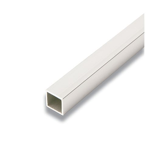 Metal Square Tube Satin Clear 3/4 In. x 3/4 In. x 8 Ft.