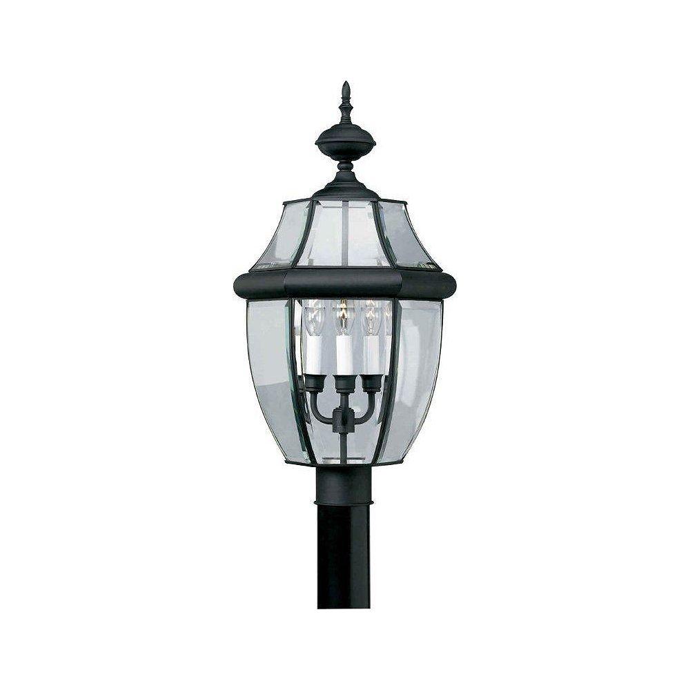 Filament Design pilier monture lumière avec abat-jour clair couleur en noir