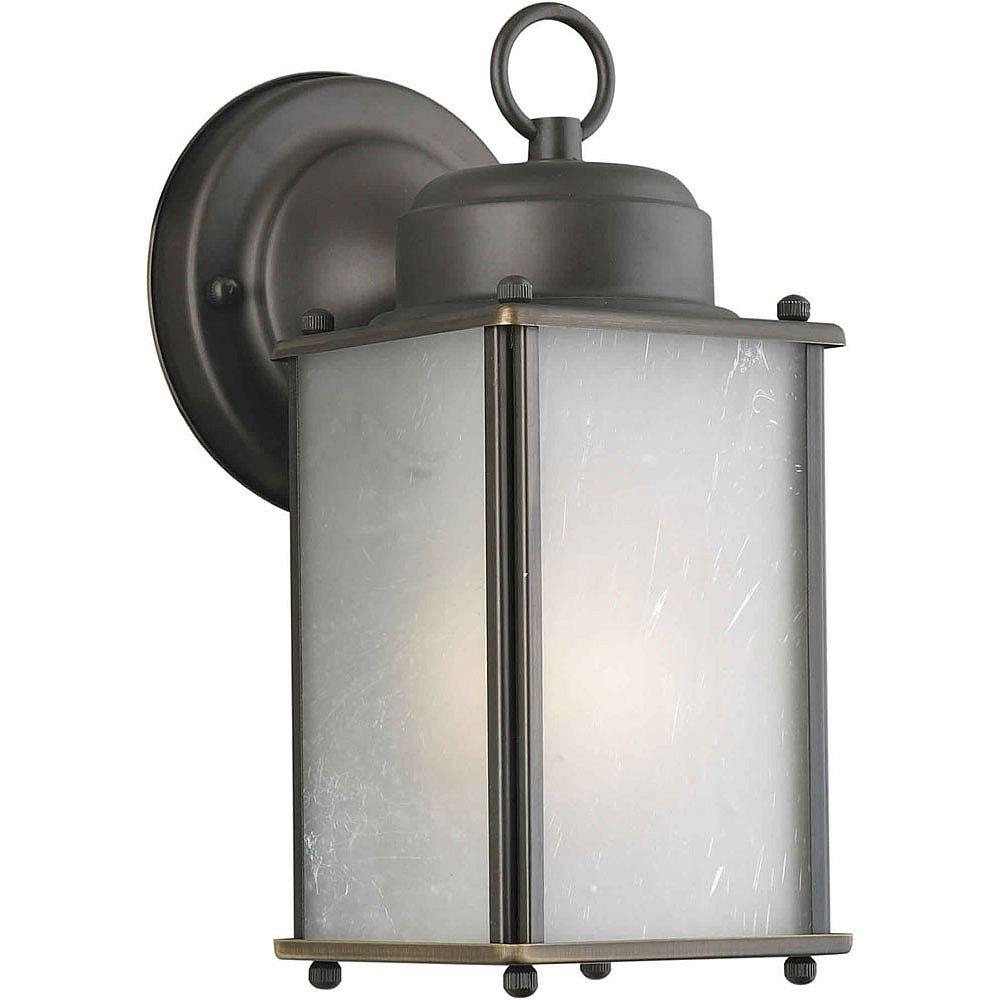 Filament Design Burton 1 Light Royal Bronze  Outdoor Compact Fluorescent Lighting Wall Light