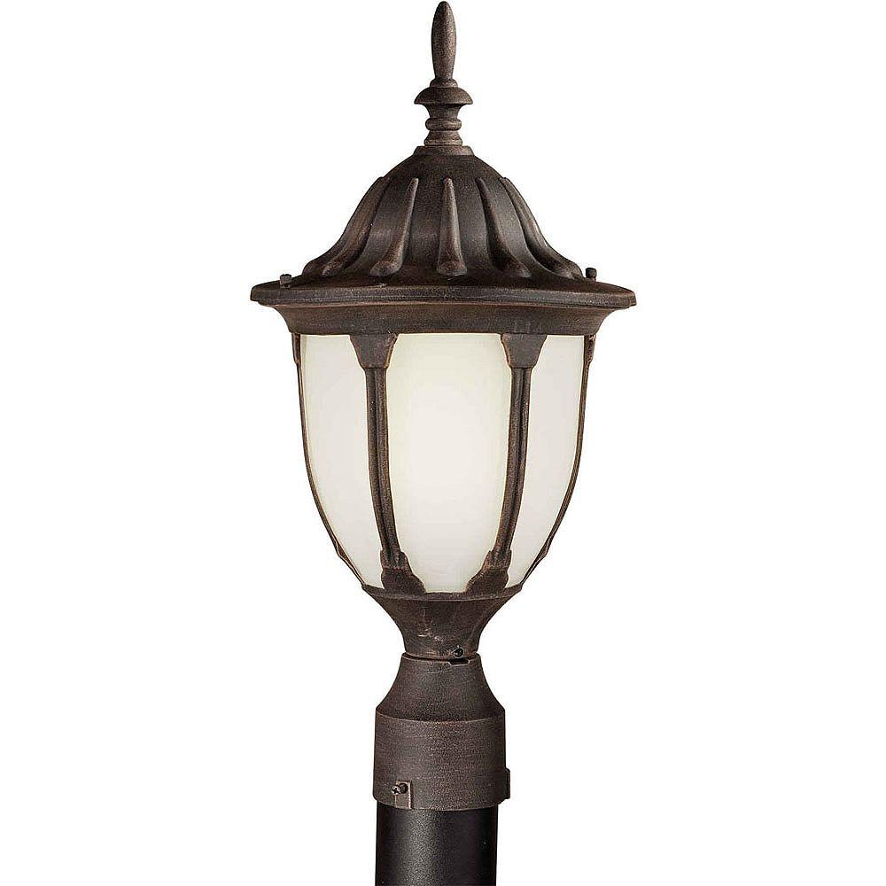 Filament Design Burton 1 Light Painted Rust  Outdoor Compact Fluorescent Lighting Post Light