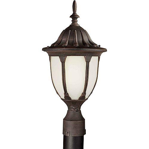 pilier monture lumière avec abat-jour blanc finition de spécialité
