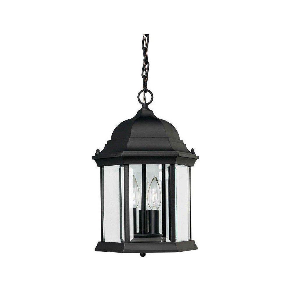 Filament Design Burton 3 Light Black  Outdoor Incandescent Ceiling Light