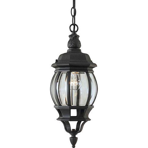 Burton 1-Light Outdoor Ceiling Light Fixture in Black