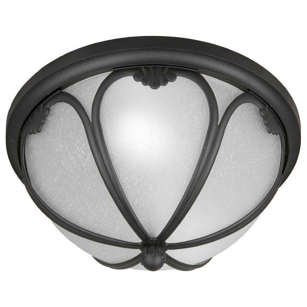 Filament Design Burton 2 Light Black  Outdoor Compact Fluorescent Lighting Ceiling Light