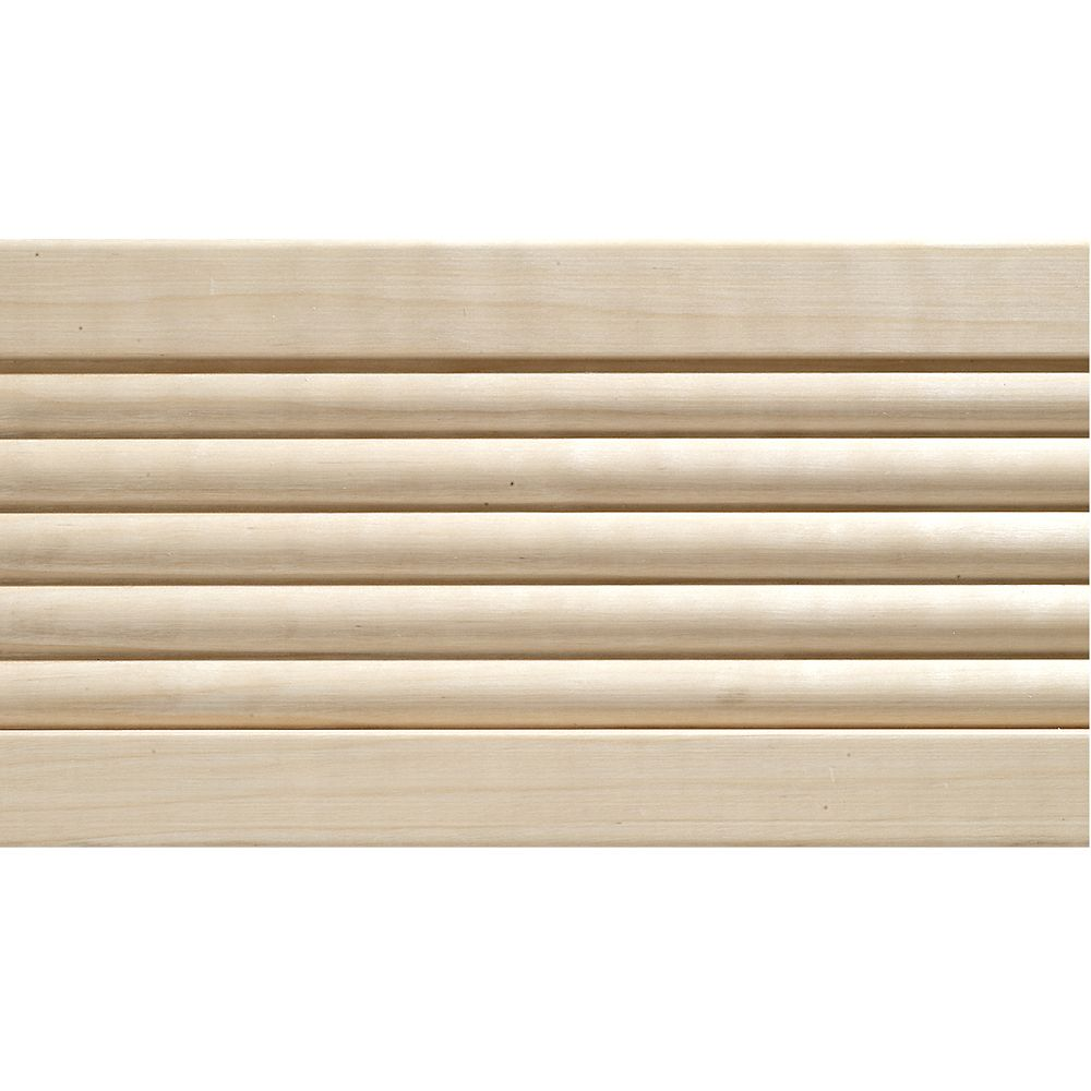 Ornamental Mouldings 1 2 Inch X 4 Inch X 7 Ft White Hardwood Beaded Casing Moulding The Home Depot Canada