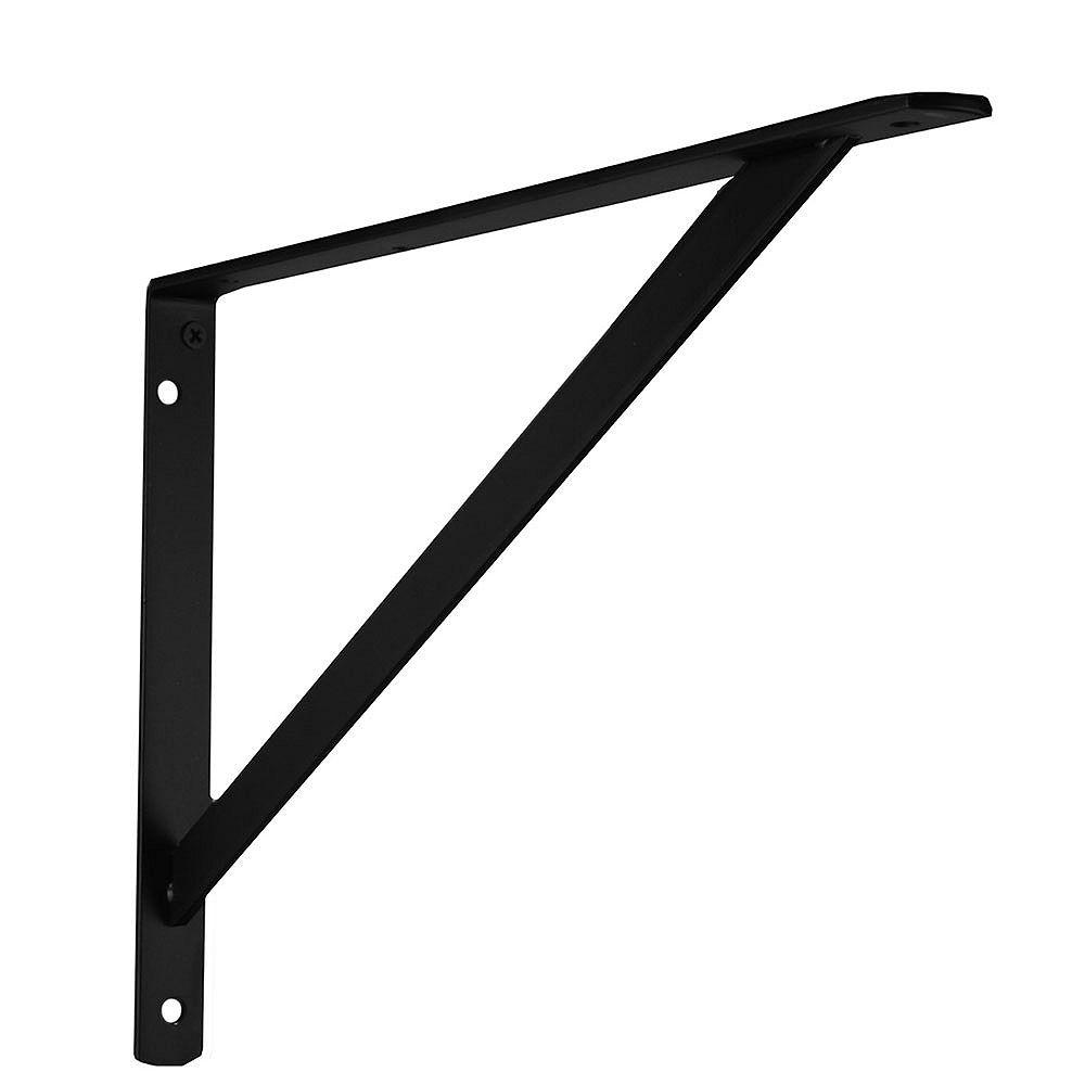 Everbilt Support ultrarésistant, 16 po, noir