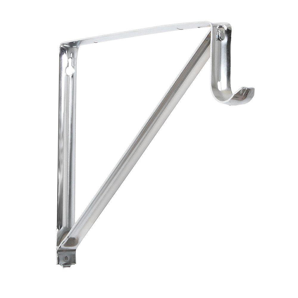 Everbilt Support pour étagères et tringles, 10 3/4 po, chrome