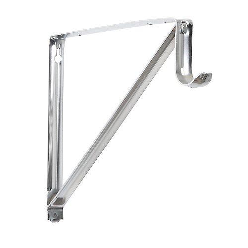 Everbilt Support pour étagères et tringles, 103/4po, chrome