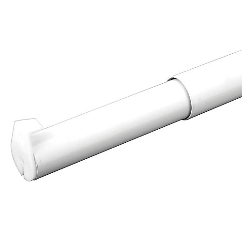 48-inch to 72-inch Adjustable Closet Rod in White