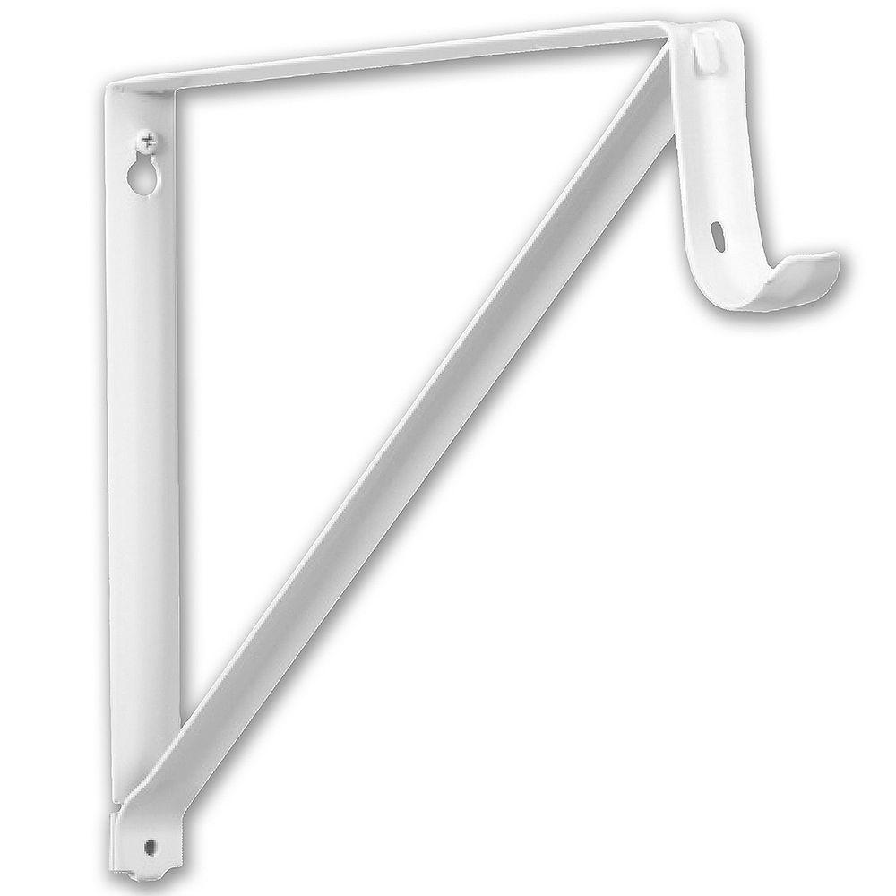 Everbilt 10 3/4-inch Shelf and Rod Bracket in White