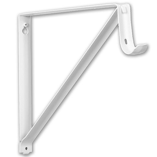 10 3/4-inch Shelf and Rod Bracket in White