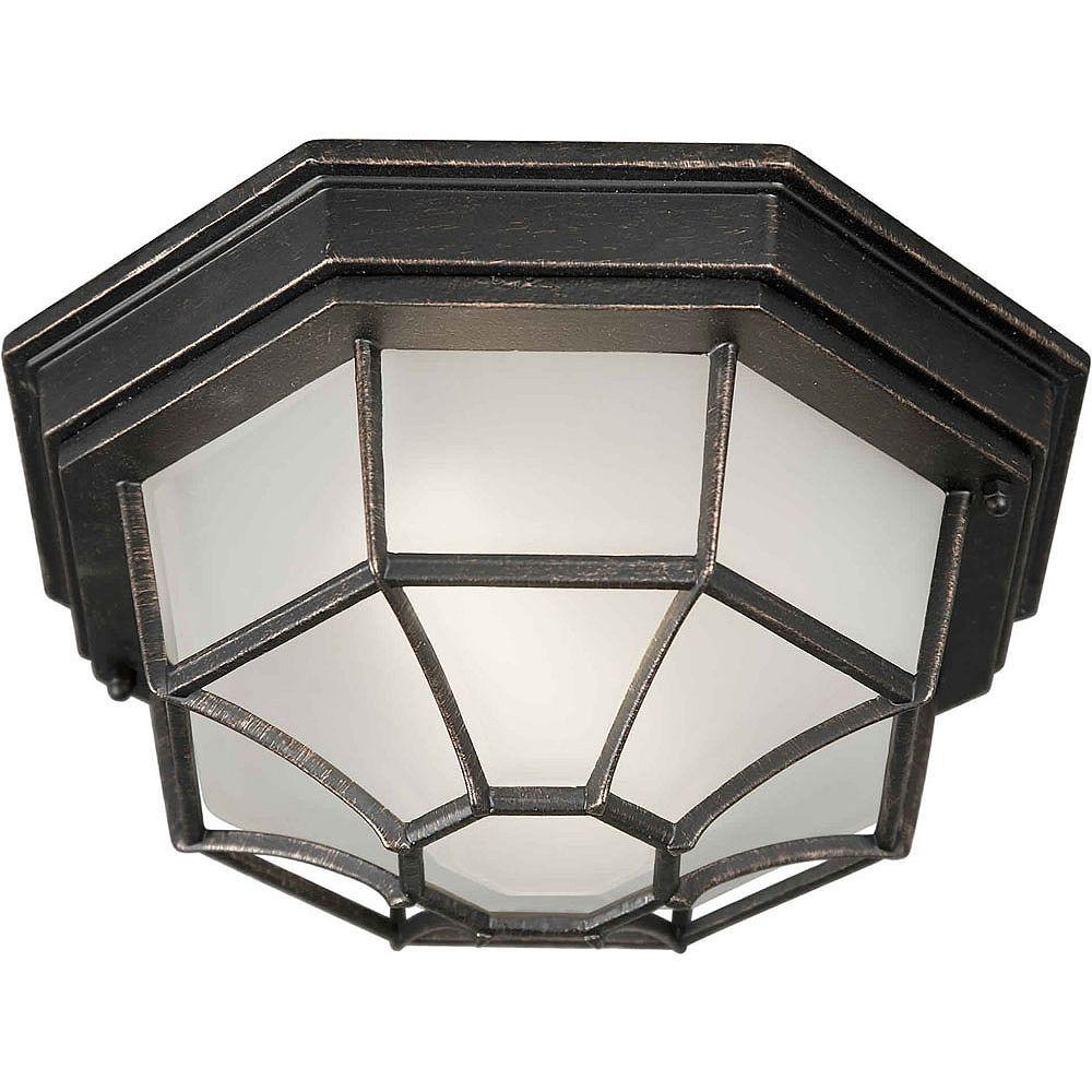 Filament Design Burton 1 Light Bordeaux Outdoor Compact Fluorescent Lighting Ceiling Light