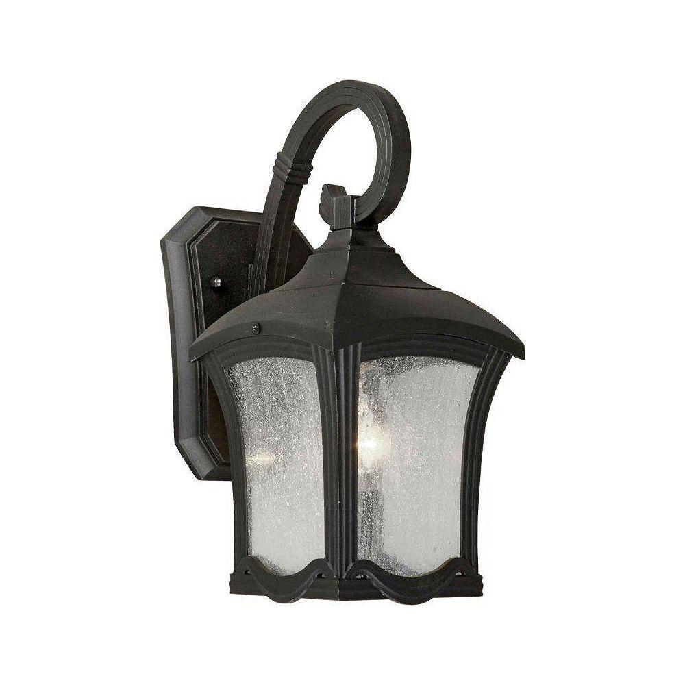 Filament Design Burton 1 Light Black  Outdoor Incandescent Wall Light