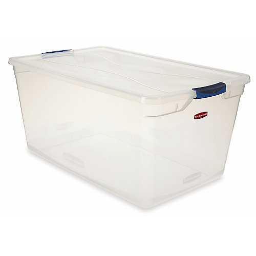 Clair Contenant Rubbermaid Clever Store, 89.0L