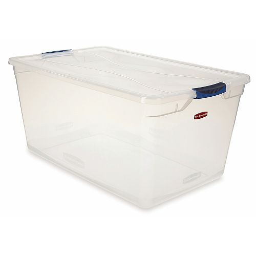 89.9L Clear Clever Store Tote