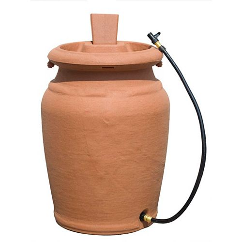 205 L Urn Style Rain Barrel with Planter