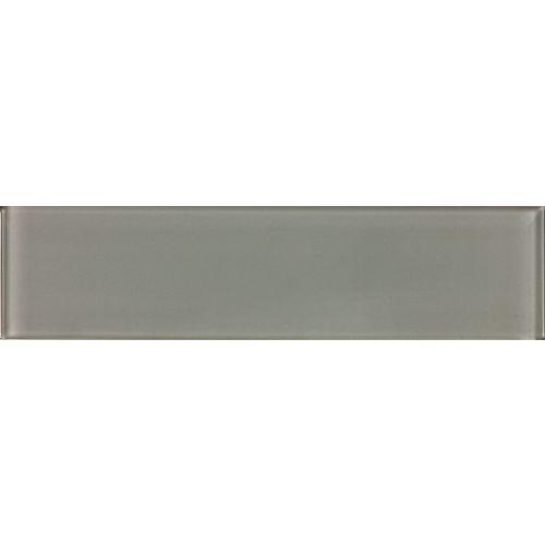 Enigma 3-inch x 12-inch Glass Tile in Graphite