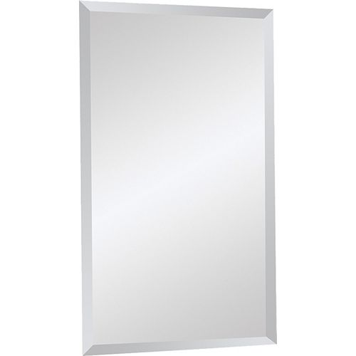 20-inch x 34-inch Frameless Glass Mirror