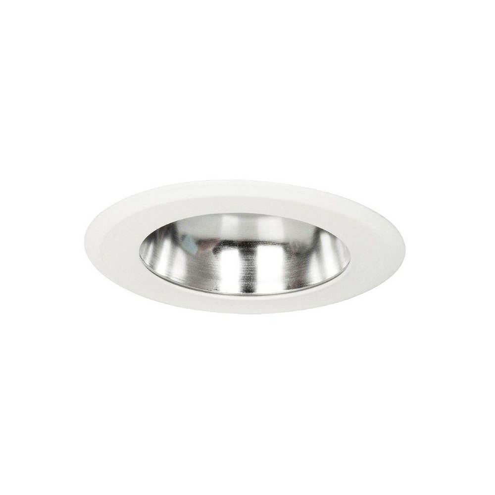 Globe Electric 4 Inch IC Rated Energy Star Integrated LED Sleek Recessed Lighting Kit, White