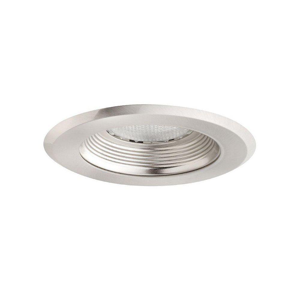 Globe Electric 5 Inch Sleek Recessed Lighting Kit, Brushed Nickel