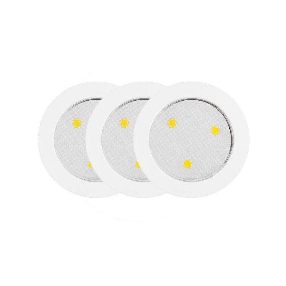 Globe Electric 25787 Sous Armoire Palet LED Luminaire, Blanc, Paquet de 3