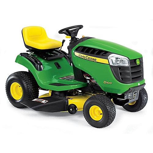 Tracteur de jardin D100 de 17,5 HP doté dun cylindre simple, dune transmission à engrenages et dun système de coupe de 42 po