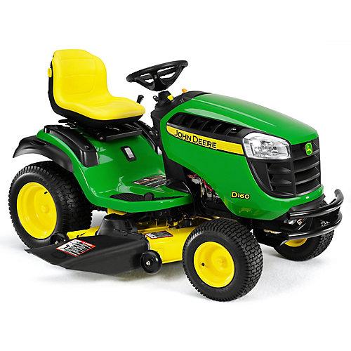 Tracteur de pelouse D160 de 25 HP doté de cylindre en V de type ELS, dune transmission hydrostatique et dun système de coupe de 48 po