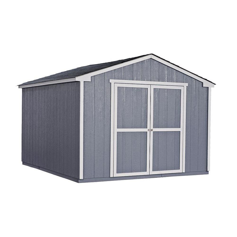 Handy Home Products Cumberland 10 ft. x 12 ft. Shed with Floor Frame