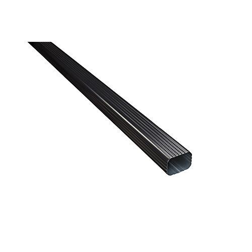 Tuyau de descente en aluminium - 2 pouces x 3 pouces - noir
