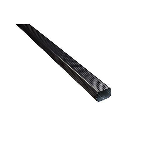 Aluminum Downpipe - 2-inch x 3-inch - Black