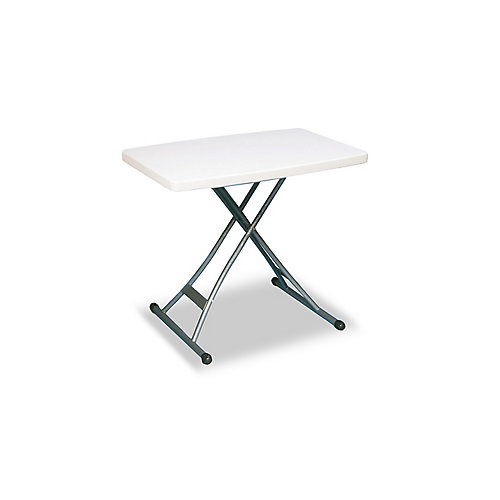 20-inch x 30-inch Adjustable Table in White