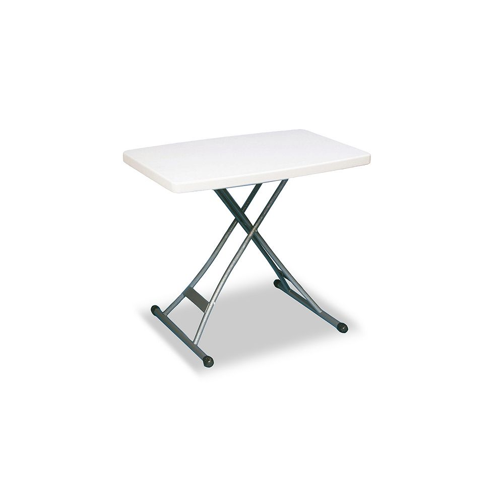 GSC 20-inch x 30-inch Adjustable Table in White