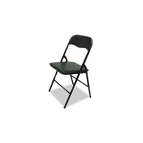 Padded Folding Chair in Black