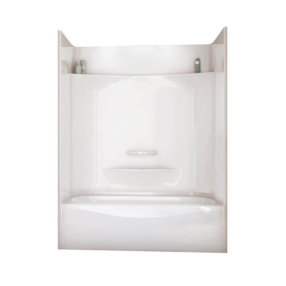 MAAX Essence 6030 59.88-inch x 80.63-inch x 30.88-inch 2-shelf 4-Piece Left Hand Drain Tub & Shower