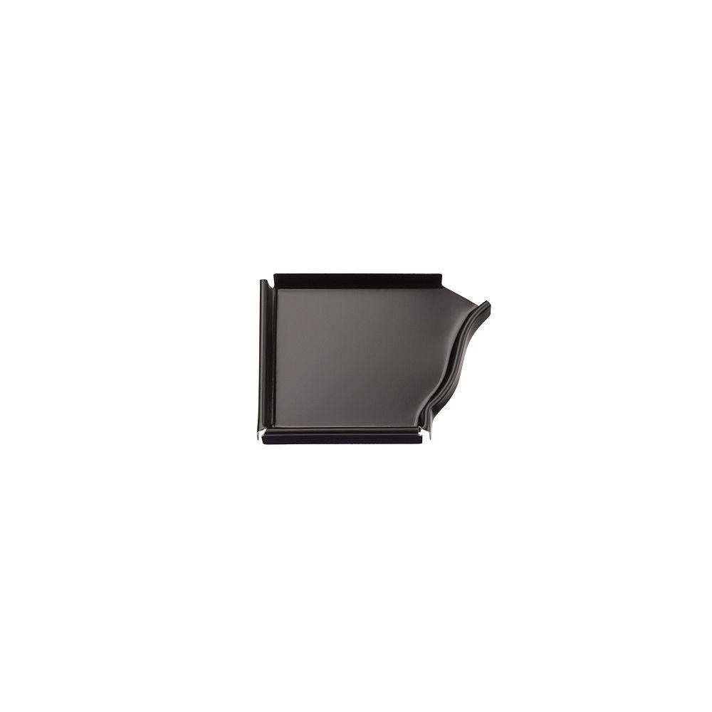 Peak Products 4-inch Aluminum Gutter Left End Cap in Black