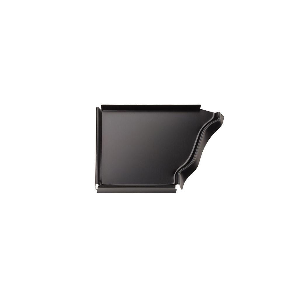 Peak Products 5-inch Aluminum Gutter Left End Cap in Black