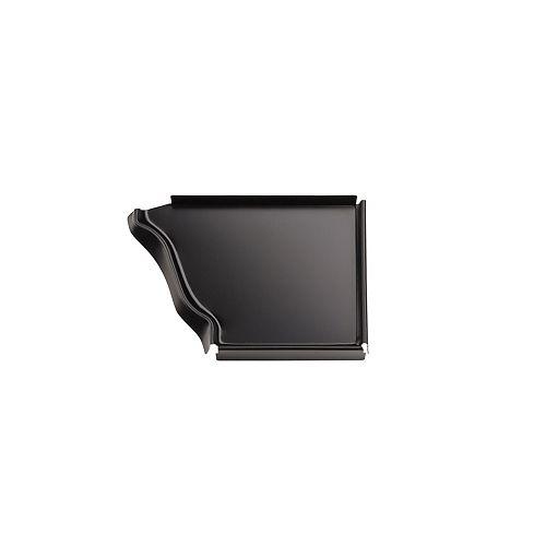 Capuchon d'extrémité droit en aluminium de 5 po - noir