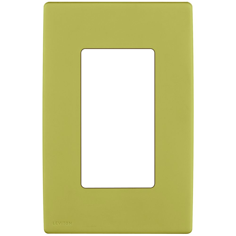 Leviton Renu 1-Gang Screwless Wallplate in Granny Smith Apple