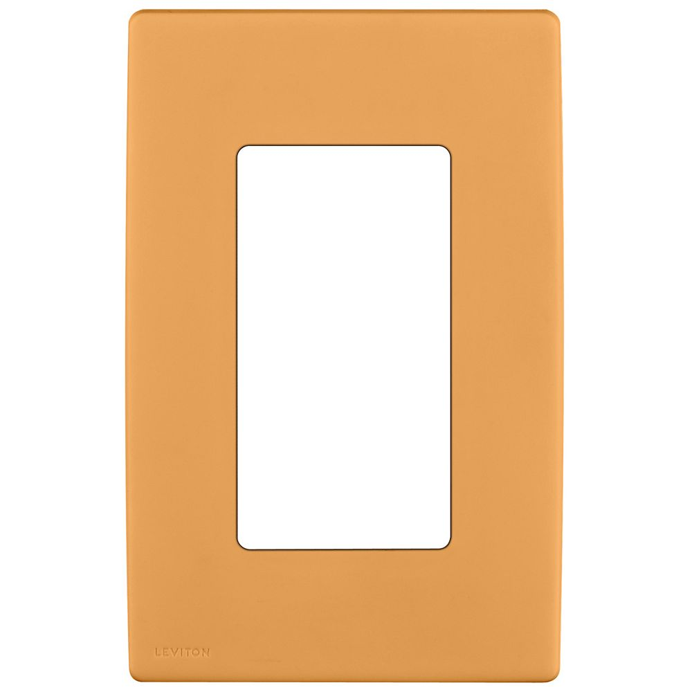 Leviton Renu 1-Gang Screwless Wallplate in Toasted Coconut