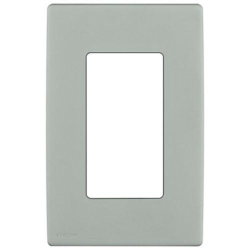 1-Gang Screwless Wallplate in Pebble Gray